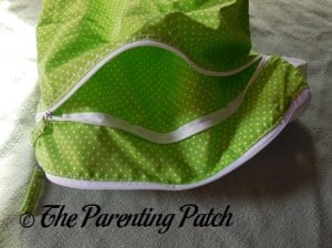 Inside the Dry Pocket of the Large Buttons Diapers Wet Bag