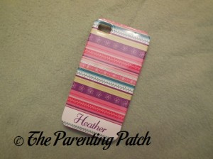 Front of the MyCustomCase.com Ribbon Roll Pink iPhone 4 Case