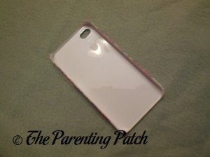 Back of the MyCustomCase.com Ribbon Roll Pink iPhone 4 Case