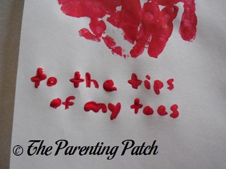 Handprint Footprint Valentineu0027s Day Craft | Parenting Patch