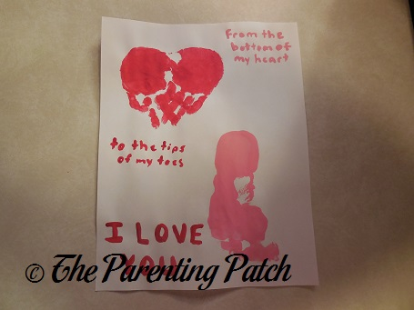 I Love You Handprint Footprint Toddler Valentineu0027s Day Craft