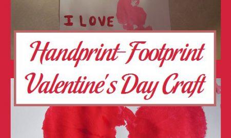 Handprint-Footprint Valentine's Day Craft