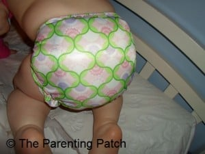 Back of Bumkins One-Size Diaper Cover on Toddler