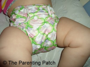 Front of Bumkins One-Size Diaper Cover on Toddler