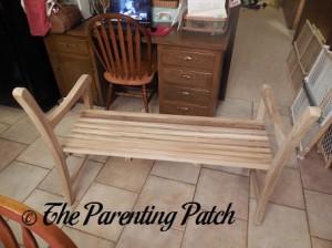 Assembling the Teak Bench