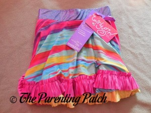 Rainbow Waterfall Wishes TwirlyGirl Reversible Twirly Ruffle Skirt 1