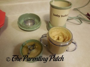 Baby Food Mashed with the Baby Bullet Short Cup