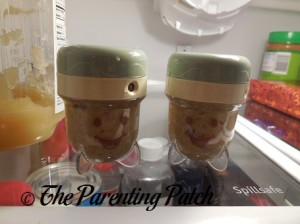 Baby Food in Baby Bullet Storage Cups