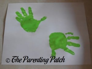 Two Green Handprints