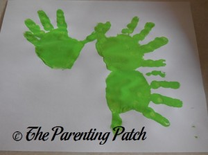 Three Green Handprints