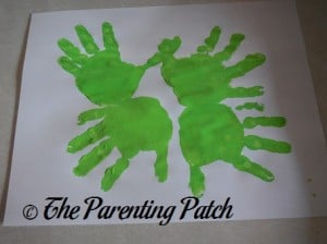 Four Green Handprints