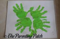 Handprint Four-Leaf Clover Toddler St. Patrick's Day Craft