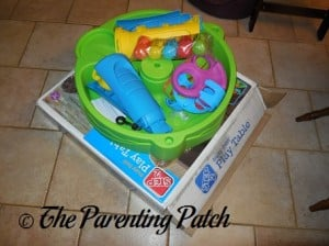 Parts of the Step2 Busy Ball Play Table