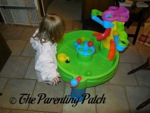 Poppy Playing with the Step2 Busy Ball Play Table 1