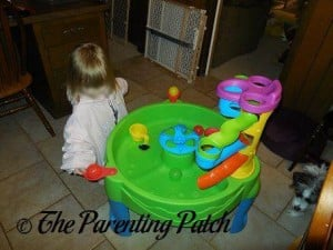 Poppy Playing with the Step2 Busy Ball Play Table 2