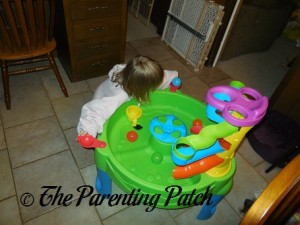 Poppy Playing with the Step2 Busy Ball Play Table 4