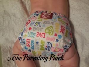 Back of Royal Fluff One-Size Pocket Diaper on Infant