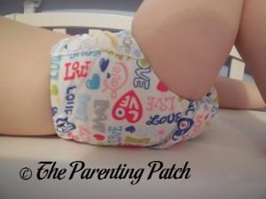 Side of Royal Fluff One-Size Pocket Diaper on Preschooler 1