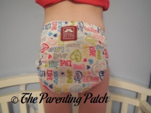 Back of Royal Fluff One-Size Pocket Diaper on Preschooler 2