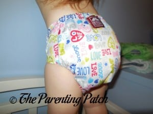 Back of Royal Fluff One-Size Pocket Diaper on Toddler