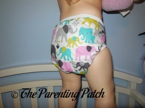 Side of the Custom Made Zookaboo Diaper Cover on a Toddler