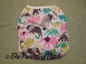 Back of the Custom Made Zookaboo Diaper Cover