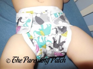 Front of the Custom Made Zookaboo Diaper Cover on a Toddler