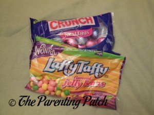 Nestle Crunch Eggs and Laffy Taffy Jelly Beans