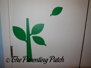 Leaf and Stem Decals on Wall
