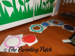 Cutting Out the Flower Decals