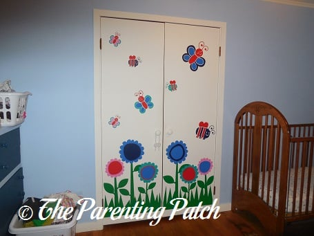 Flower Bugs Wall Decals Stickers on Closet Doors
