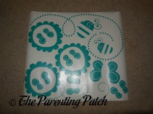 Turquoise Sheet of Flower Bugs Wall Decals Stickers