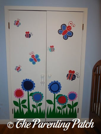 Finished Flower Bugs Wall Decals Stickers Project