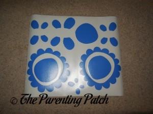 True Blue Sheet of Flower Bugs Wall Decals Stickers