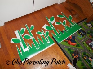 Arranging the Leaves, Stems, and Grass of the Flower Bugs Wall Decals Stickers