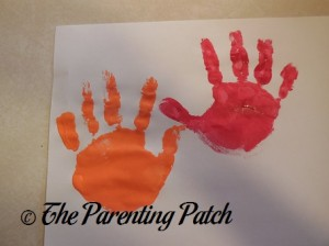 Orange and Red Handprints
