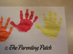 Orange, Red, and Yellow Handprints