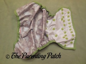 Inside of Blueberry Coverall Diaper Cover