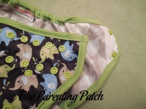 Hip Snaps on Blueberry Coverall Diaper Cover