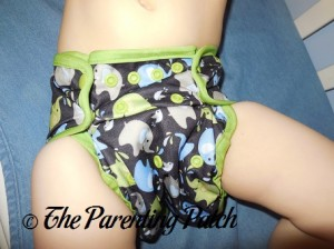 Front of Blueberry Coverall Diaper Cover on Toddler