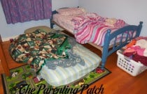 Continuing the Transition from Shared Bed to Toddler Bed