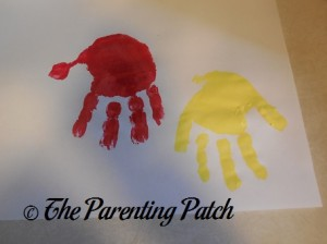Red and Yellow Handprints