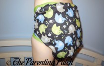 Elephants Blueberry Coverall: Daily Diaper