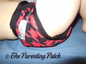 Side of Nicki's Diapers Diaper Cover on Toddler