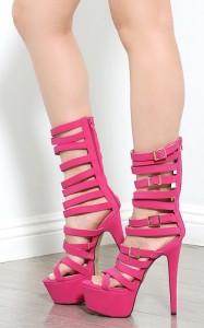 Buckle Strappy Gladiator Heels