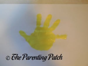 Yellow Handprint
