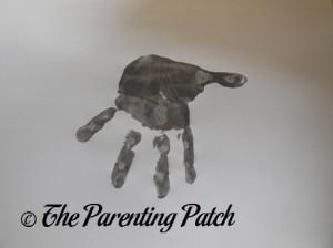 Gray Handprint