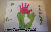 F Is for Flower Handprint and Footprint Craft