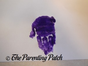 One Purple Handprint