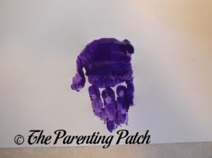 One Purple Handprint